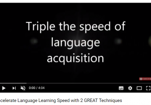 Accelerate Language LearningTechniques