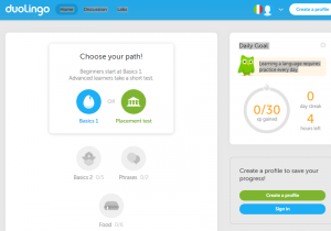 Duolingo Italian screenshot