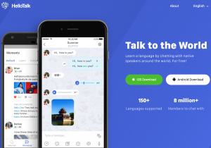 HelloTalk App Review - Homepage Screenshot