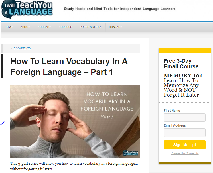 IWTYAL How To Learn Vocabulary Foreign Language screenshot
