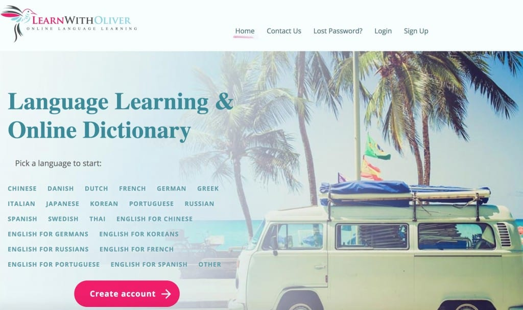 Learn With Oliver Homepage Screenshot