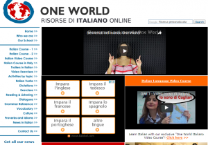 One World Italiano homepage screenshot