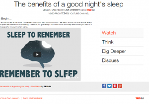Ted Ed Benefits Good Nights Sleep screenshot